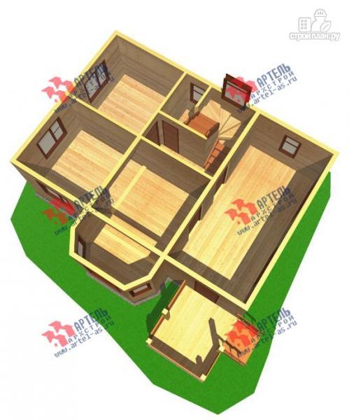 Фото 6: проект дом из бруса с пятью спальнями