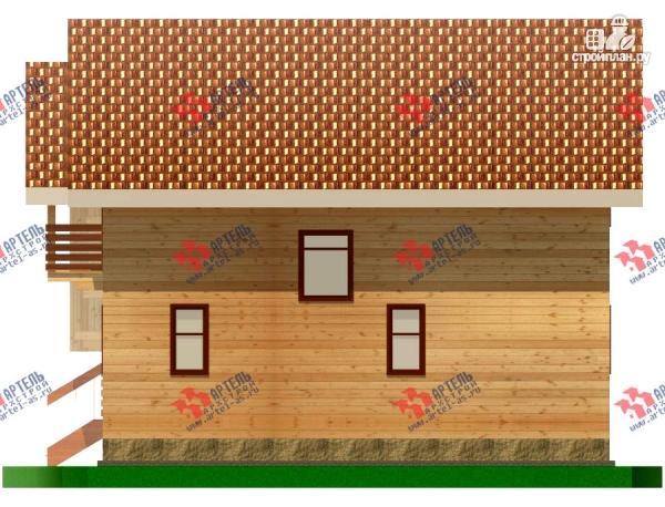 Фото 5: проект дом из бруса с пятью спальнями