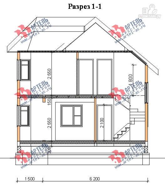 Фото 10: проект дом из бруса с пятью спальнями