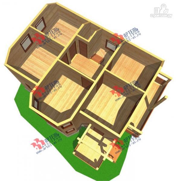 Фото 7: проект дом из бруса с пятью спальнями