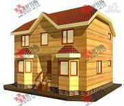 Проект двухэтажный дом 7х9 из бруса