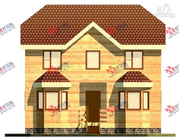Фото 2: проект двухэтажный дом 7х9 из бруса
