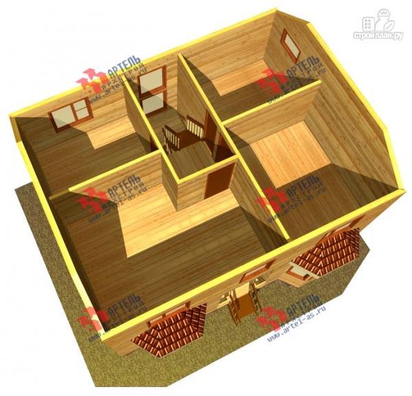 Фото 7: проект двухэтажный дом 7х9 из бруса