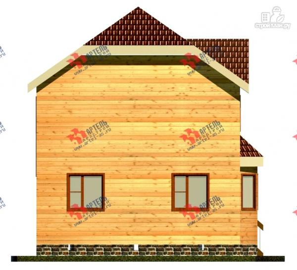 Фото 3: проект двухэтажный дом 7х9 из бруса