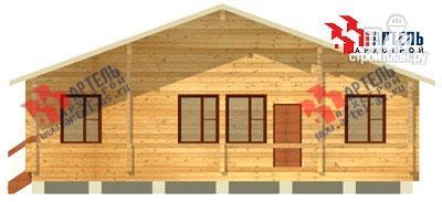 Фото 4: проект брусовой дом 10х12 с террасой
