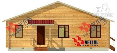 Фото 2: проект брусовой дом 10х12 с террасой