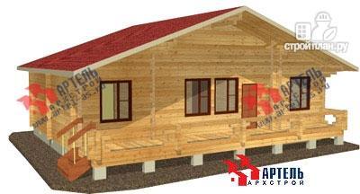 Фото: проект брусовой дом 10х12 с террасой