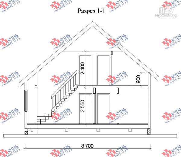 Фото 9: проект брусовой дом с двухсветной гостиной