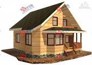 Проект брусовой дом с двухсветной гостиной