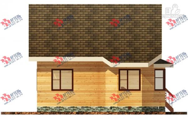 Фото 2: проект брусовой дом с двухсветной гостиной