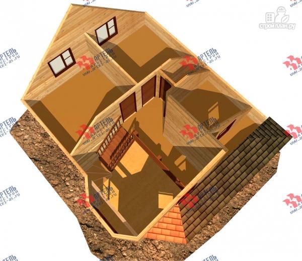 Фото 6: проект брусовой дом с двухсветной гостиной