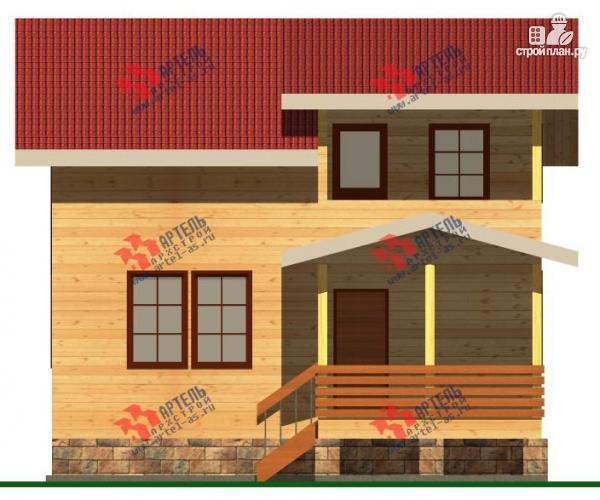 Фото 5: проект дом 8х8 из бруса с террасой