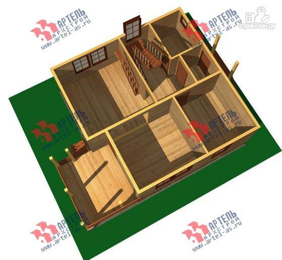 Фото 2: проект дом 8х8 из бруса с террасой