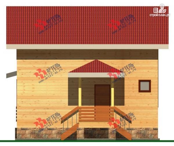 Фото 4: проект дом 8х8 из бруса с террасой