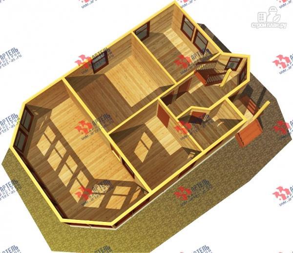 Фото 6: проект дом из бруса с просторной верандой