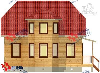 Фото 3: проект дом 8х9 из бруса, с эркером