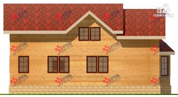 Фото 4: проект дом 6х15 из бруса с эркером, для узкого участка