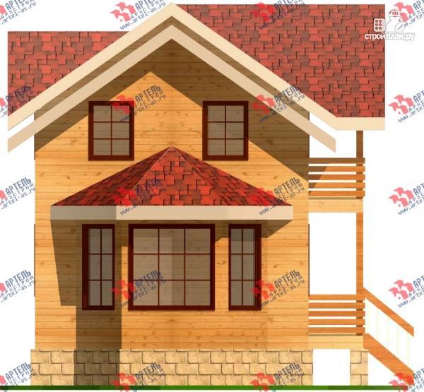 Фото 7: проект дом 6х15 из бруса с эркером, для узкого участка