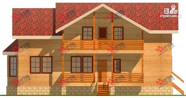 Фото 6: проект дом 6х15 из бруса с эркером, для узкого участка