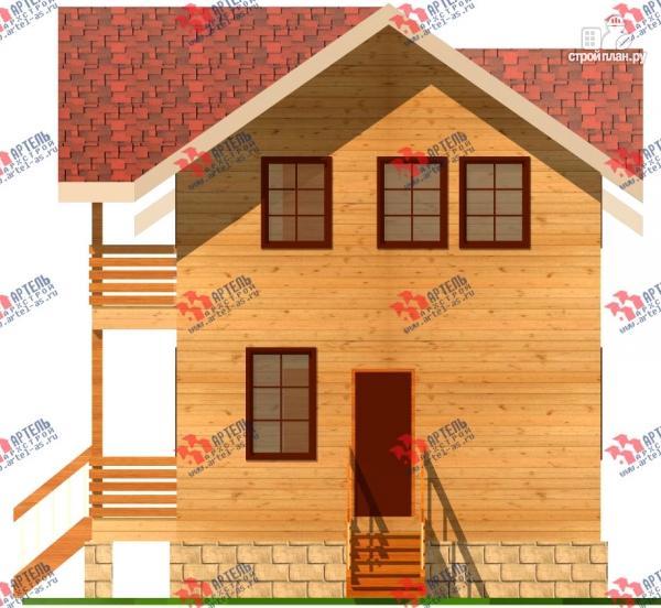 Фото 5: проект дом 6х15 из бруса с эркером, для узкого участка