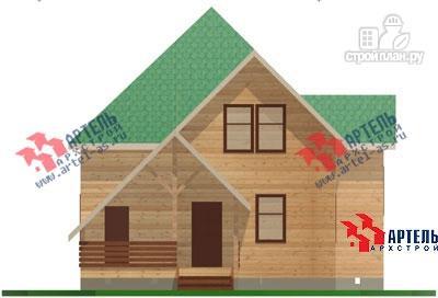 Фото 2: проект дом из бруса с верандой