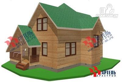 Фото: проект дом из бруса с верандой