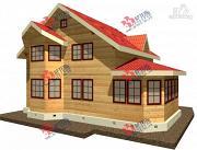 Фото: брусовой дом с верандой