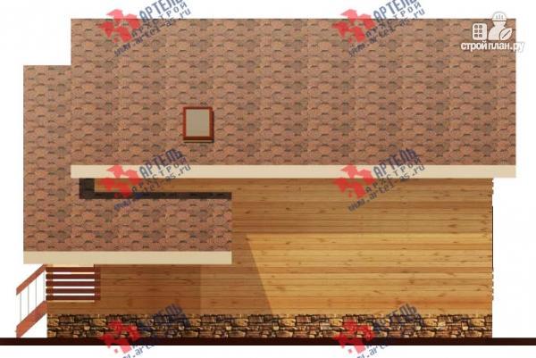Фото 3: проект брусовой дом с террасой и балконом