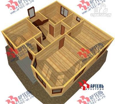 Фото 6: проект просторный дом из бруса