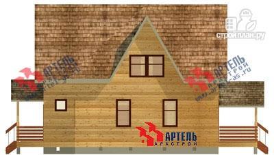 Фото 5: проект брусовой дом с террасой
