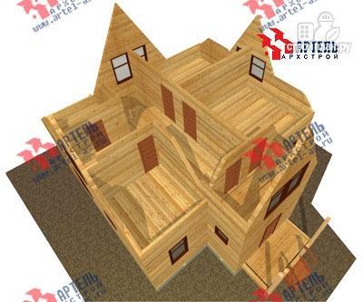 Фото 7: проект брусовой дом с террасой