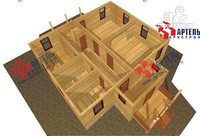 Фото 6: проект брусовой дом с террасой