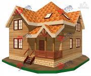 Фото: дом из бруса с мансардой и верандой