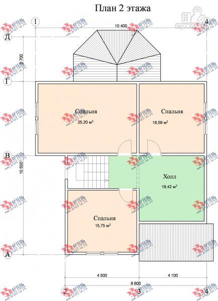 Фото 9: проект дом из бруса с мансардой и верандой