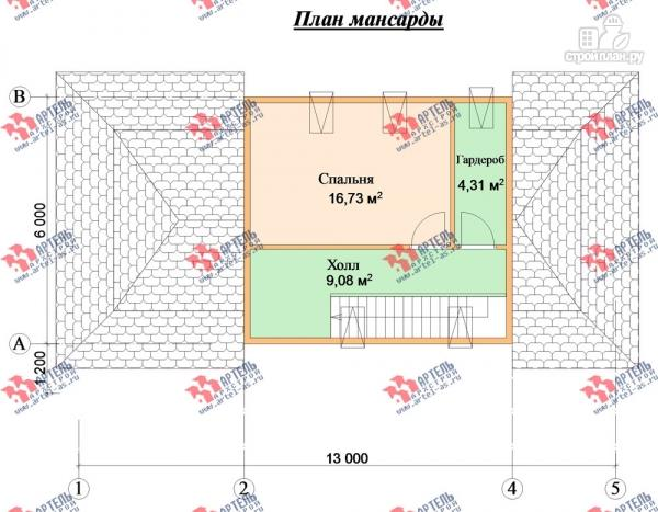 Фото 11: проект трёхэтажный дом 6х14 из бруса