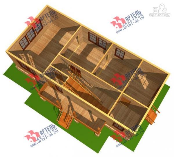 Фото 2: проект трёхэтажный дом 6х14 из бруса