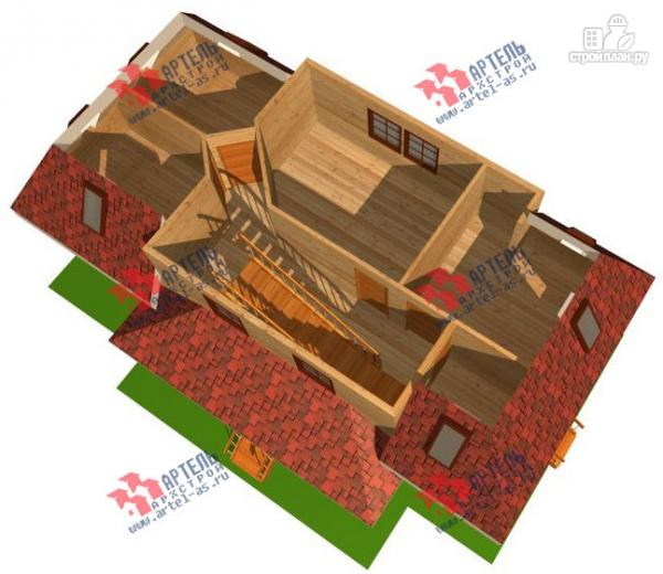 Фото 3: проект трёхэтажный дом 6х14 из бруса