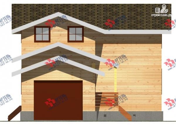 Фото 7: проект дом из бруса для узкого участка, с гаражом