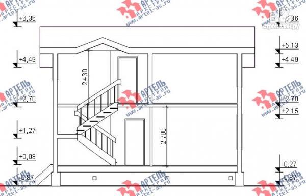 Фото 11: проект дом из бруса для узкого участка, с гаражом