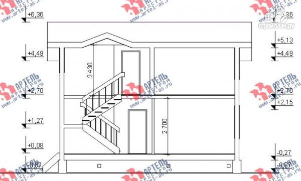 Фото 12: проект дом из бруса для узкого участка, с гаражом