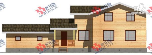 Фото 6: проект дом из бруса для узкого участка, с гаражом