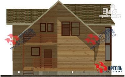 Фото 2: проект дом из бруса, с балконом и вторым светом