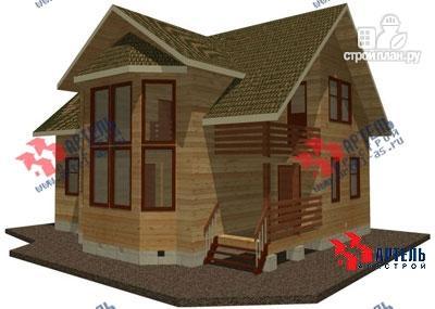 Фото: проект дом из бруса, с балконом и вторым светом