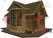 Фото: дом из бруса, с балконом и вторым светом
