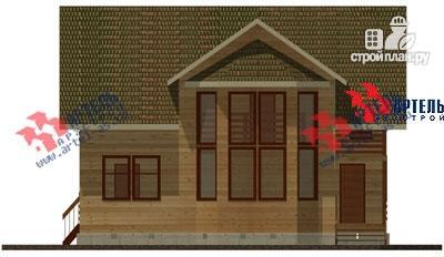Фото 3: проект дом из бруса, с балконом и вторым светом