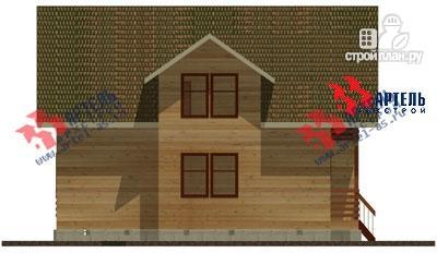Фото 4: проект дом из бруса, с балконом и вторым светом