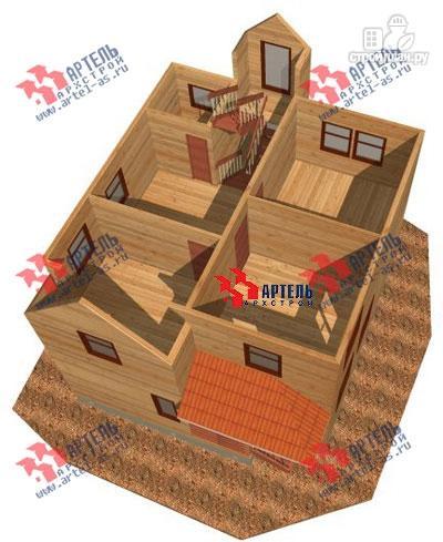 Фото 7: проект трёхэтажный дом 8х9 из бруса