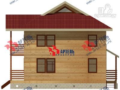 Фото 5: проект двухэтажный дом 9х12 из бруса