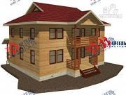 Проект двухэтажный дом 9х12 из бруса