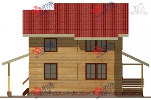 Фото 7: проект трёхэтажный дом 11х13 из бруса, с навесом для машины
